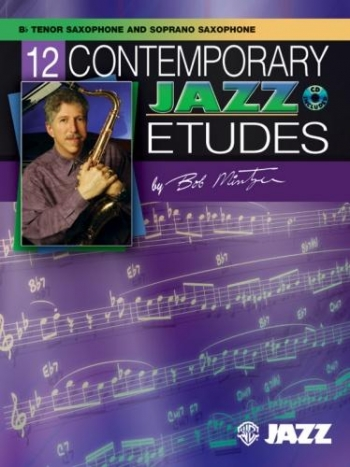 12 Contemporary Jazz Etudes: Tenor Saxophone Book & CD (Mintzer) (Alfred)