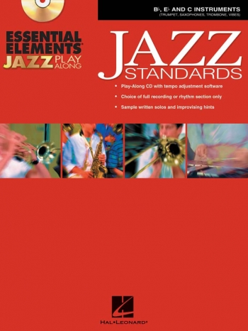 Essential Elements For Jazz Play Along: Jazz Standards Bb Eb And C Inst: Book & CD