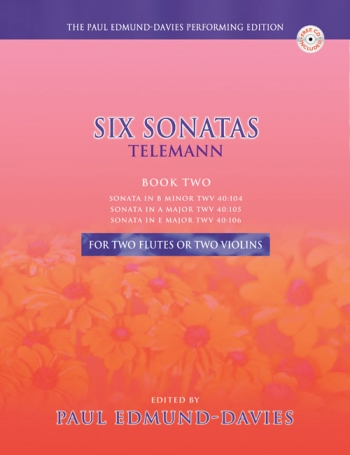6 Sonatas: Vol.2: 2 Flutes Or 2 Violins Book & CD