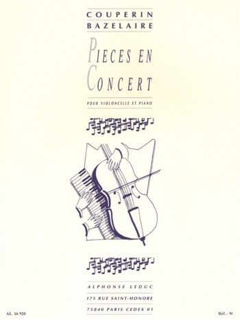 Pieces En Concert: Cello & Piano  (Leduc)
