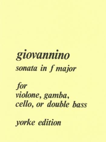 Sonata In F Major: Double Bass (Yorke)