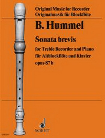 Sonata Brevis Op 87B: Treble Recorder and Piano