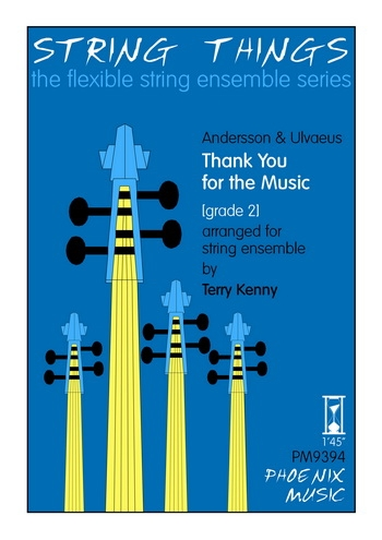 String Things - Thank You For The Music - String Ensemble - Score and Parts - Grade 2