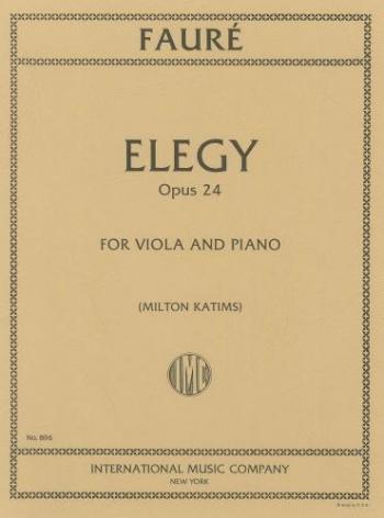 Elegy: Viola And Piano (International)