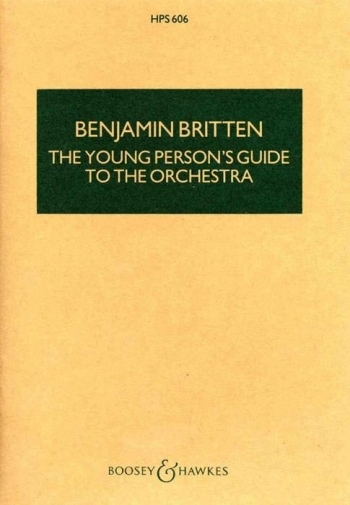 Young Persons Guide To The Orchestra: Miniature Score