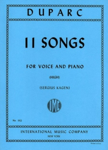 Eleven Songs For High Voice And Piano  (International)
