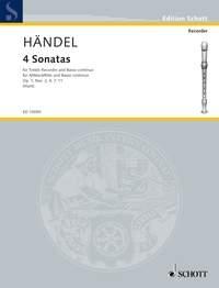 4 Sonatas Op.1 Treble Recorder & Piano (Schott)
