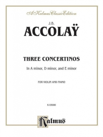 3 Concertinas: A Min, E Min And D Min: Violin & Piano (Kalmus)