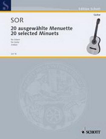 20 Selected Minuets/Ausgewählte Menuette: Guitar