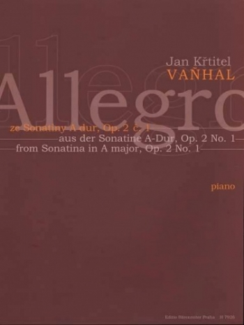 Allegro From Sonatina Op.2 No.1: Piano (Barenreiter)