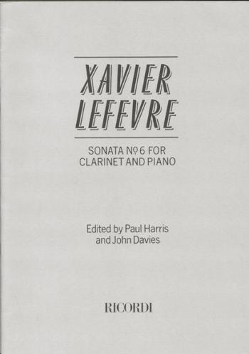 Sonata: No.6: Clarinet & Piano (Ricordi)