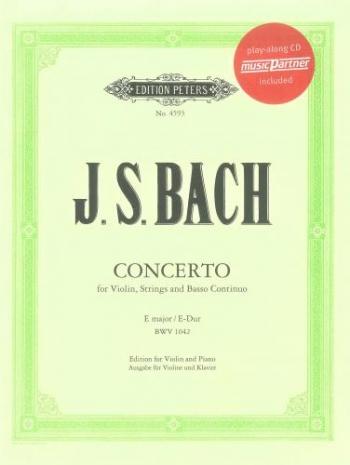 Concerto E Major No.2 Bwv1042: Violin and Piano Book & Cd (Peters)