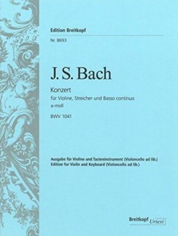 Concerto A Minor No.1  Bwv1041: Violin & Piano (Breitkopf)