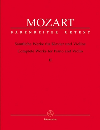 Complete Works: Violin: Book2: Violin and Piano  (Barenreiter)