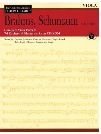 Orchestra Cd Rom Libarary: Viola: Vol 3: Brahms, Schubert