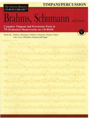 Orchestra Cd Rom Libarary: Percussion: Vol 3: Brahms, Schubert