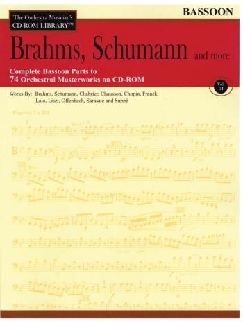 Orchestra Cd Rom Libarary: Bassoon: Vol.3: Brahms, Schubert