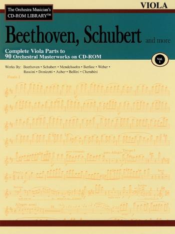 Orchestra Cd Rom Libarary: Viola: Vol 1: Beethoven, Schubert