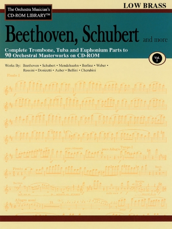 Orchestra Cd Rom Libarary: Low Brass: Vol 1:  Beethoven, Schubert