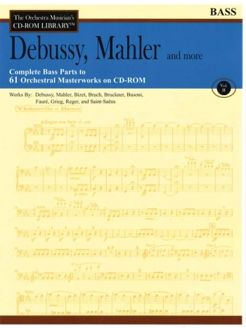 Orchestra Cd Rom Libarary: Double Bass: Vol 2: Debussy, Mahler