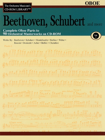 Orchestra Cd Rom Libarary: Oboe: Vol 1: Beethoven, Schubert