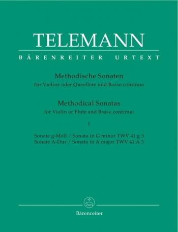 Methodical Sonatas: Vol 1: G Min & A: Violin Or Flute (Barenreiter)