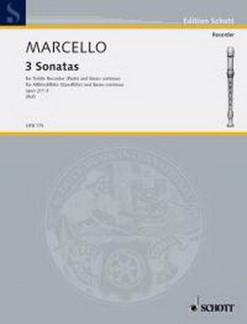 6 Sonatas: Vol 1 (1-3): Treble Recorder