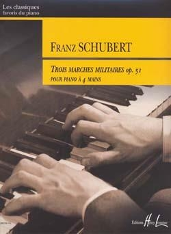 3 Marches Militaires: Opus 51: Piano Duet