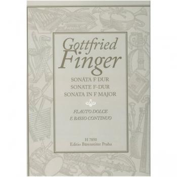 Sonata F Major- Treble Recorder And Piano