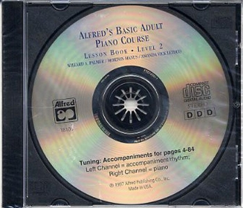 Alfred Basic Adult Lesson Book: Level 2; Cd Only