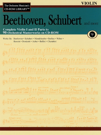 Orchestra Cd Rom Libarary: Violin 1 and 2: Vol 1: Beethoven, Schubert