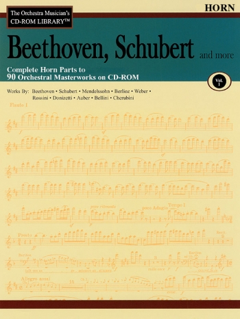 Orchestra Cd Rom Libarary: Horns: Vol 1: Beethoven, Schubert