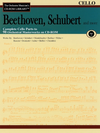 Orchestra Cd Rom Libarary: Cello: Vol 1: Beethoven, Schubert
