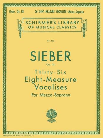 36 Eight Measure Vocalises: Mezzo Soprano Voice