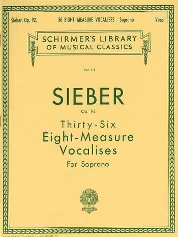 36 Eight Measure Vocalises: Soprano Voice