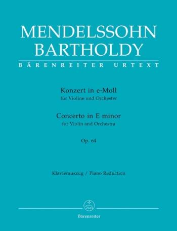 Concerto E Minor: Op64: Violin and Piano (Barenreiter)