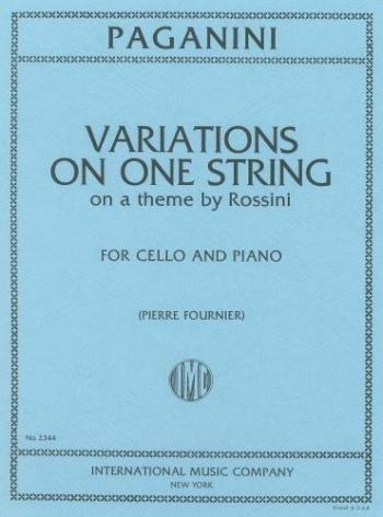 Variations On 1 String On Rossini Theme: Cello (International)