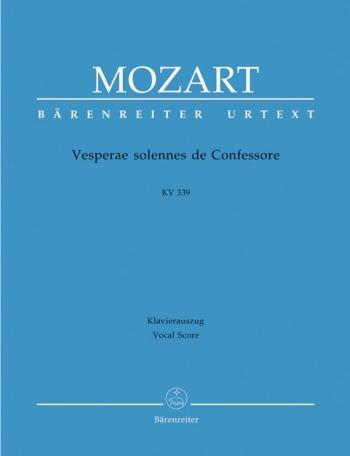 Vesperae Solennes De Confessore: Kv339: Vocal Score  (Barenreiter)
