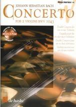 Concerto D Minor Bwv1043: 2 Violins & Piano Book & CD (De Haske)