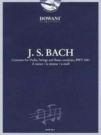 Concerto A Minor  No.1 Bwv1041: Violin & Piano Book & CD (Dowani)