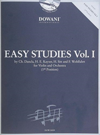 Easy Studies: 1: Violin and Piano (dancla, Kayser, Sitt, Wohlfahrt)