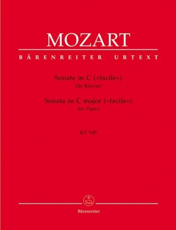 Sonata : C Major: K545: Piano  (Barenreiter)