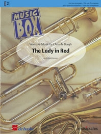 Lady In Red: 4 Trumpets:  Music Box: Score & Parts  (Kernen)