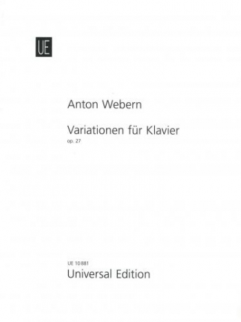 Variaiton For Piano: Op.27 (Universal)
