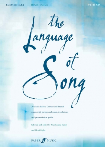 Language Of Song: Elementary: High Voice: Book and 2cd