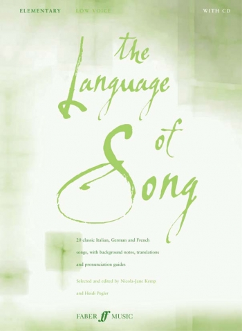 Language Of Song: Elementary: Low Voice: Book and 2cd