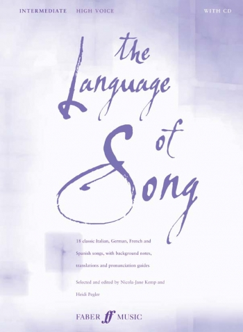 Language Of Song: Intermediate: High Voice: Book and 2cd