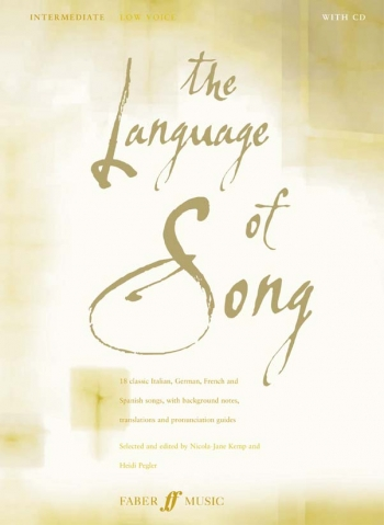 Language Of Song: Intermediate: Low Voice: Book and 2cd