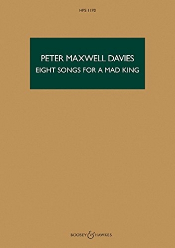 8 Songs For A Mad King: Miniature Score