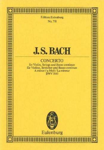 Concerto: A Minor: Bwv1041: Miniature Score